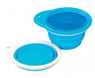 Silicone collapsible go bowl