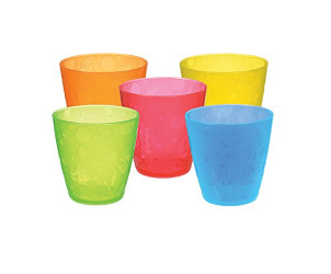 Multi-coloured cups