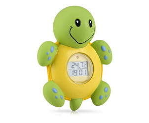 Bathtime clock and thermometer turtle