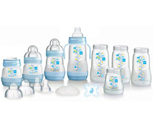 Easy start anti-colic bottle starter set