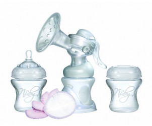 Natural touch manual breast pump