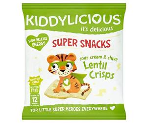 Super snacks sour cream & chive lentil crisps