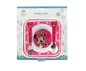Minnie mouse feeding gift set