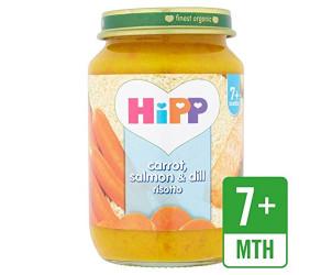 Carrot, Salmon & Dill Risotto 7m+