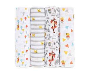 Winnie the pooh swaddleplus muslin blankets