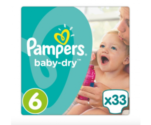 Baby dry nappies size 6