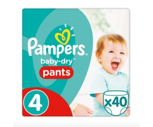Baby dry pants size 4