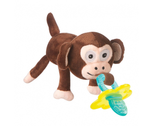 Monkey snoozie and chewbie teether