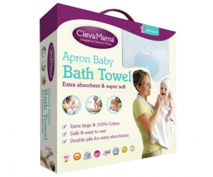 Extra Large Hooded Baby Towel And Apron Wrap