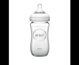 Natural Glass Bottle 240ml