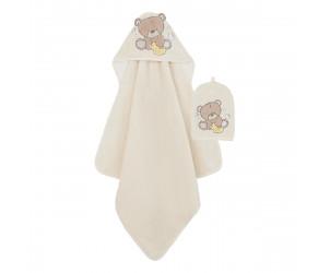 Teddy's Toy Box Cuddle 'n Dry Towel and Wash Mitt