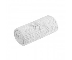 Crib or moses basket cellular cotton blanket