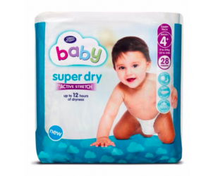 Baby Super Dry with Active Stretch Nappies Size 4