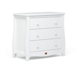 Sleigh 3 Drawer Dresser With Changing Station
