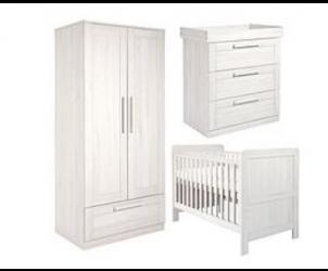 Atlas Cot Bed, Dresser & Wardrobe