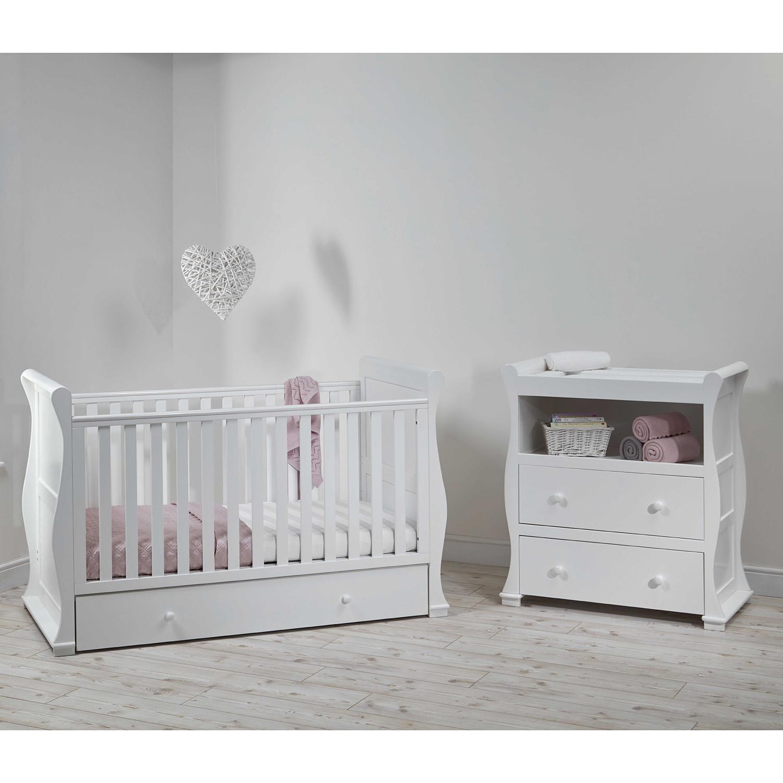east coast alaska sleigh cot bed nursery furniture set. Black Bedroom Furniture Sets. Home Design Ideas