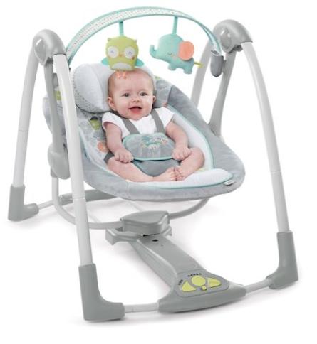 Babies R Us Ingenuity Hoots And Hugs Swing N Go Portable