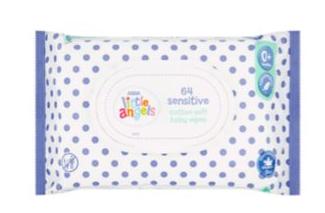 Asda Little Angels Sensitive Cotton Soft Baby Wipes 0