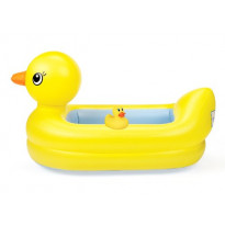 White Hot Inflatable Safety Tub and Bath Ducky Set