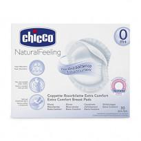 Natural feeling antibacterial breast pads