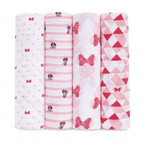 Minnie mouse swaddleplus muslin blankets
