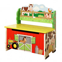 Happy farm storage bench