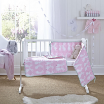 Rabbits crib set quilt and bumper
