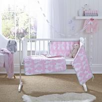 Rabbits crib set quilt and bumper
