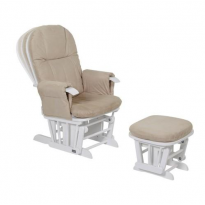 Deluxe Reclinable Glider Chair and Stool