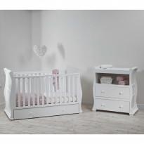 Alaska Sleigh Cot Bed Nursery Furniture Set