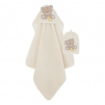 Teddy's Toy Box Cuddle 'n Dry Towel and Wash Mitt