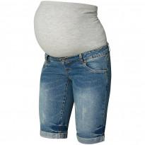 Denim Maternity Bermuda Shorts
