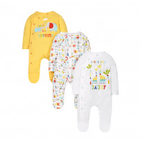 Animal alphabet sleepsuits