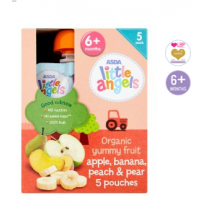 Organic Yummy Fruit Apple, Banana, Peach & Pear 6m+