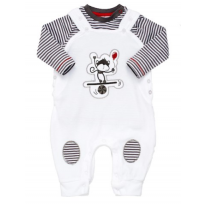 Giraffe and Friends Dungaree and Long Sleeve Shirt