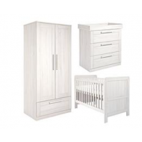 Atlas Cot Bed, Dresser & Wardrobe