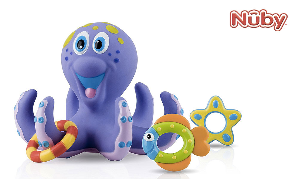 Octopus bath toy from Nuby